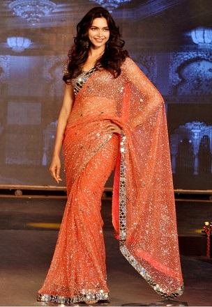 Deepika-padukone-images-Most-Beautiful-Ever-orange-sarre