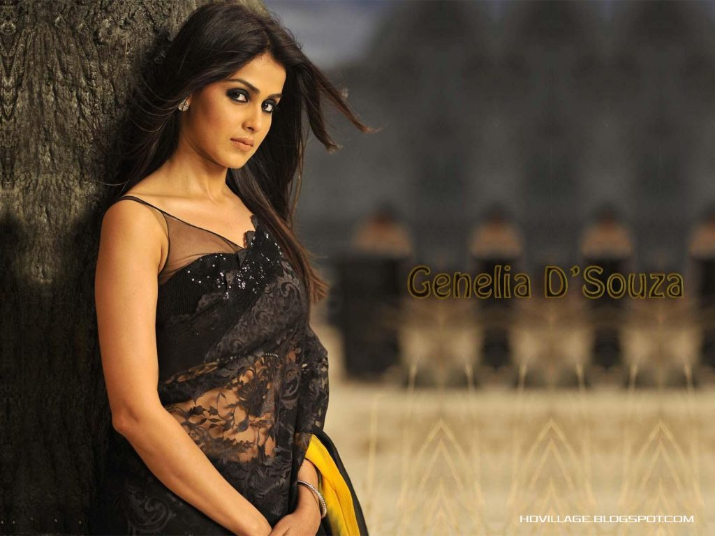 Genelia-d-souza-wallpapers-30-HD-Pics-cute-in-black-sarre-1024x768
