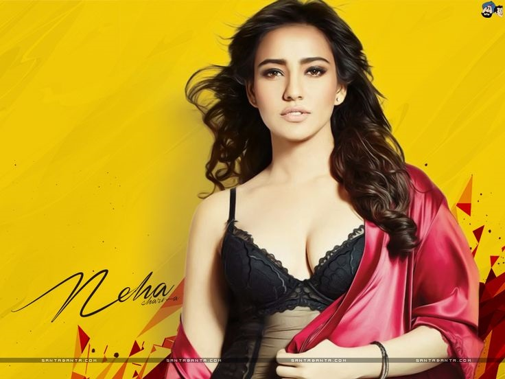 neha-sharma-hot-Wallpapers-HD-Collection-very-hot-black-bra